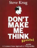Image of Don't Make Me Think book cover by Steve Krug